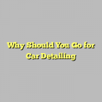 Why Should You Go for Car Detailing
