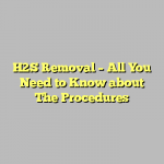 H2S Removal – All You Need to Know about The Procedures