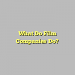 What Do Film Companies Do?