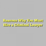 Reasons Why You Must Hire a Criminal Lawyer
