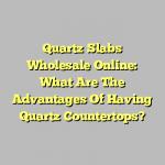 Quartz Slabs Wholesale Online: What Are The Advantages Of Having Quartz Countertops?