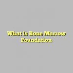 What is Bone Marrow Foundation